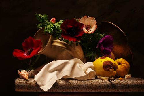 Still life with late Anemones