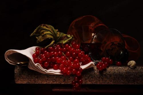 Still life with Redcurrants